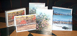 Greeting Cards of G. Webb watercolours are available in our studio.