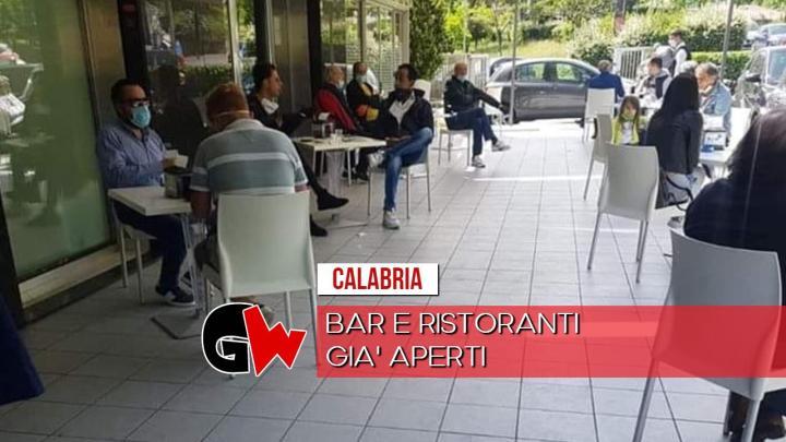La Calabria ha già riaperto bar e ristoranti - Gwendalina.tv