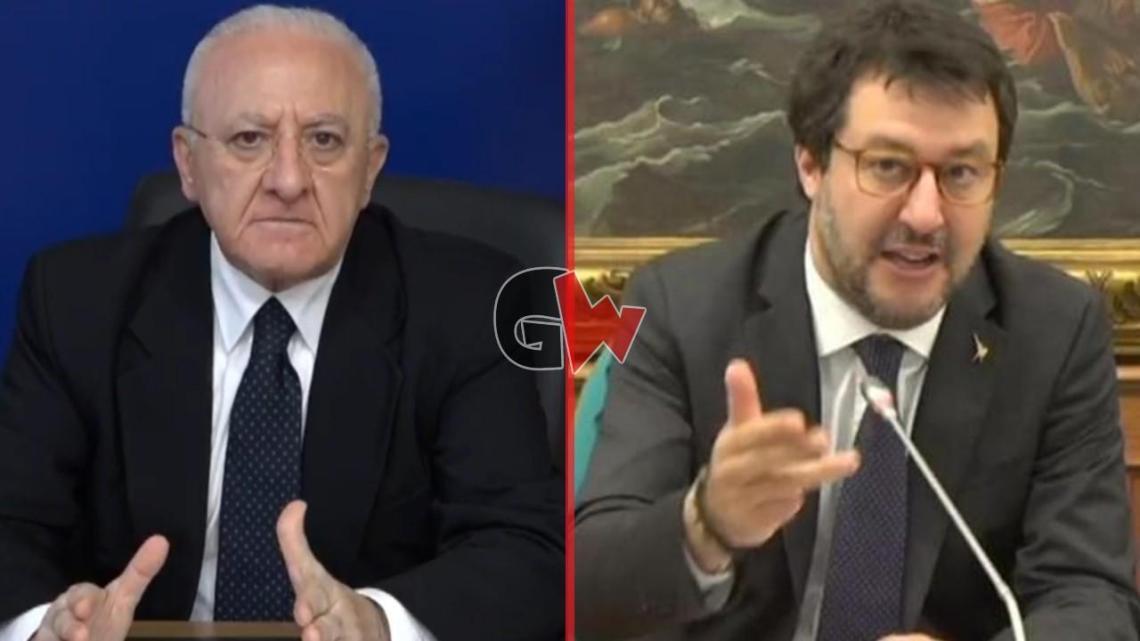 """Salvini: """"De Luca è un piccolo uomo"""" - Gwendalina.tv"""