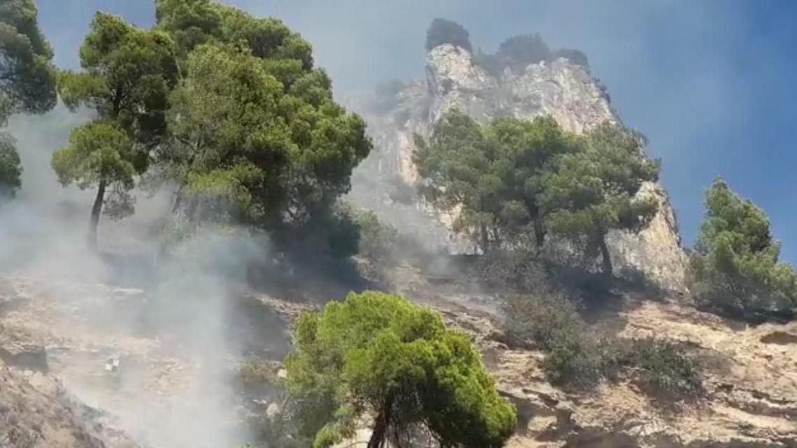 Marina di Camerota, vasto incendio a Pineta Sant'Iconio - Gwendalina.tv