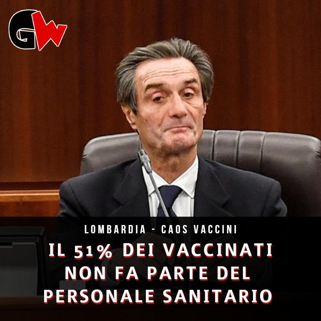 Lombardia, il 51% dei vaccinati non fa parte del personale sanitario - Gwendalina.tv