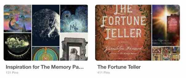 Inspiration Boards for The Memory Painter and The Fortune Teller