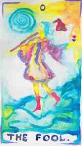 The Fool - Tarot in Watercolor by Gwendolyn Womack, author of The Fortune Teller