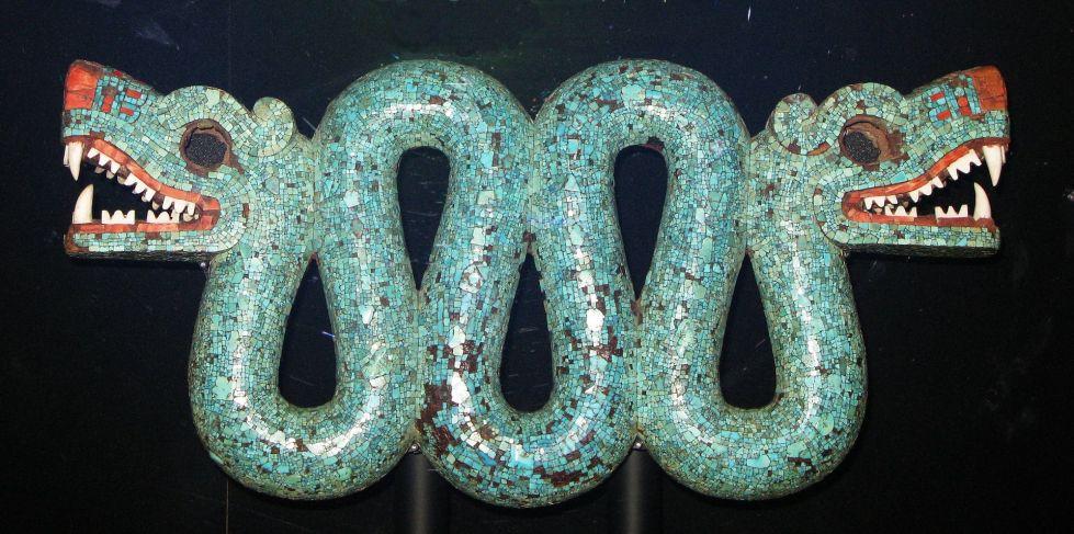 Serpent en mosaïque de turquoise