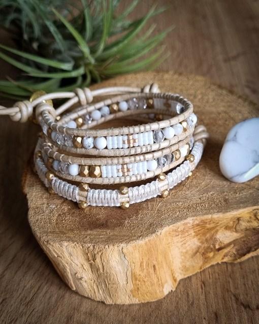 bracelet wrap howlite