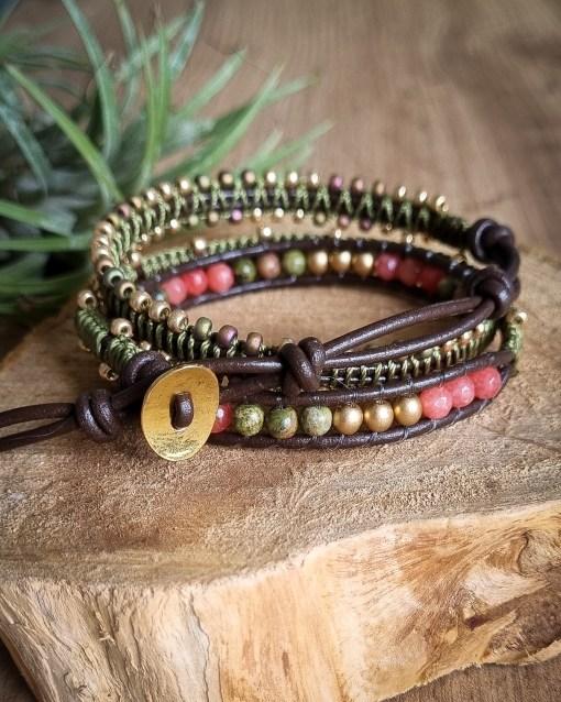bracelet wrap unakite