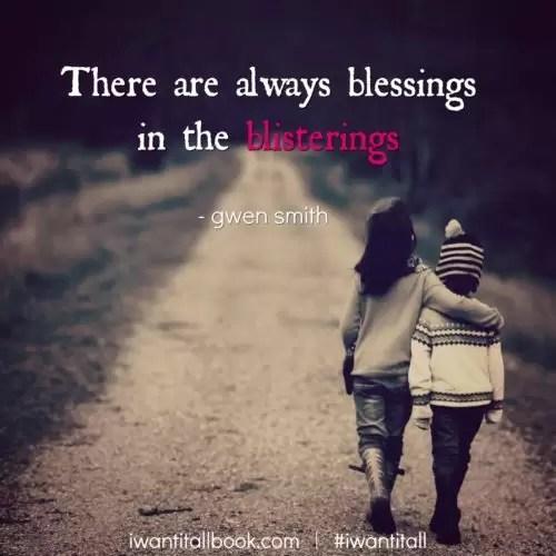blessings blisterings