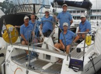 the Crew Sail Port Stephens - Elan 340 G-whizz