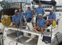 the Crew Sail Port Stephens - Elan 340 G-whizz