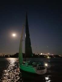G-whizz Elan 340 Moonlight Sailing