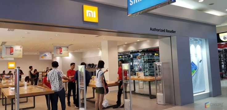 Tampak depan Authorized Mi Store Supermall Karawaci.