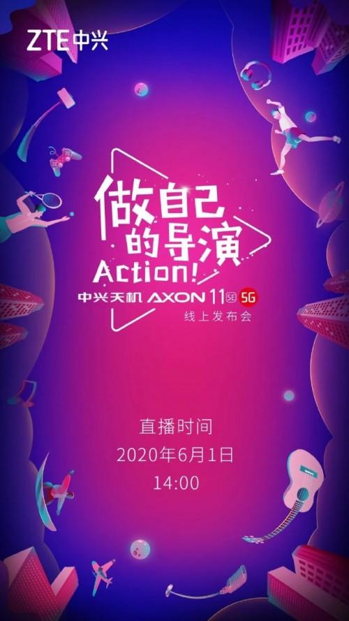 ZTE mengonfirmasi 1 Juni sebagai tanggal peluncuran resmi Axon 11 SE