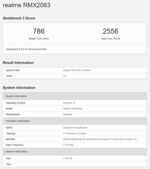 Dugaan Realme X3 Pro di Geekbench