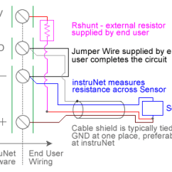 4 Wire Measurement Circuit 2004 Pontiac Aztek Radio Wiring Diagram Rtd Temperature With Usb Data Acquisition Hardware C I4xx I60x Differential Cable