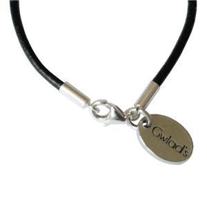 Bracelet enfant cuir cordon grain de café argent massif 2