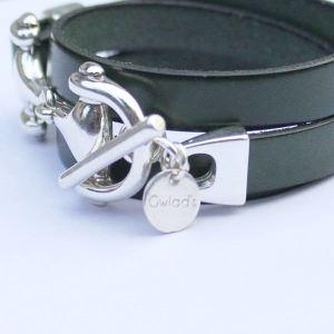 Bracelet femme cuir Mors De Cheval triple tour 2