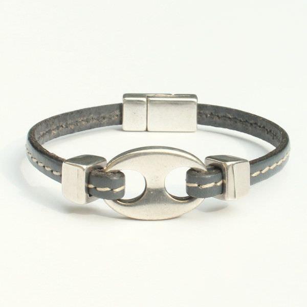 Bracelet enfant garçon cuir Grain De Café 1