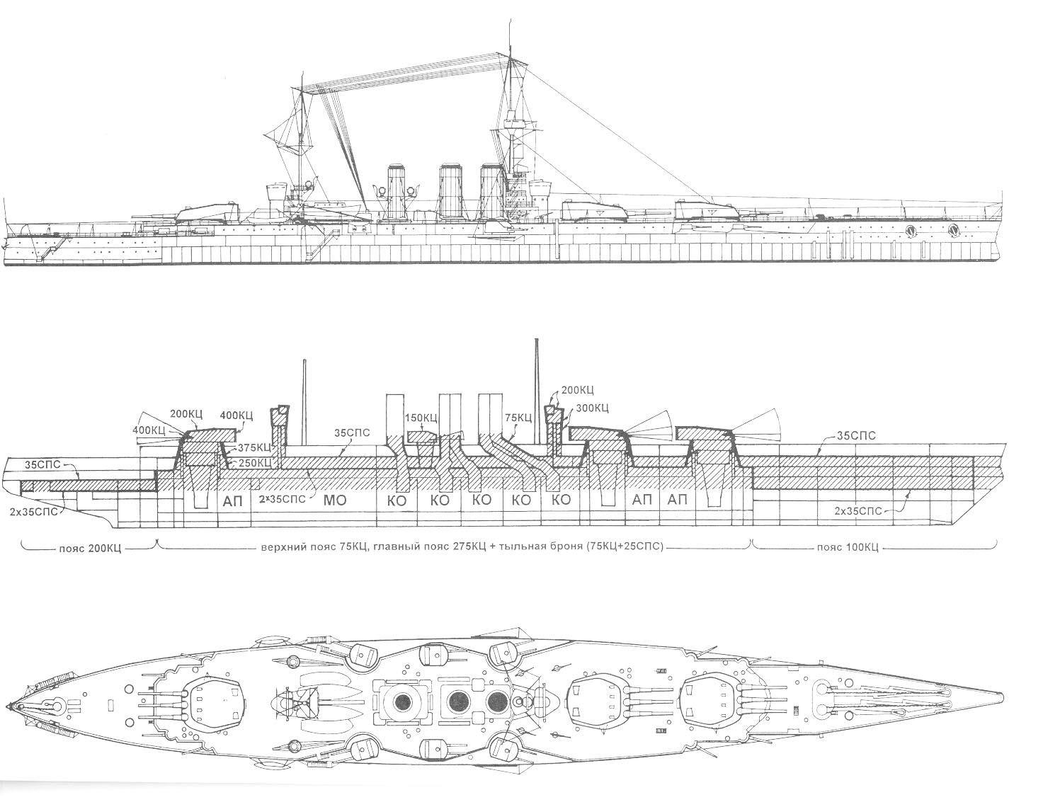 hight resolution of 1917 naval design for a black sea battleship