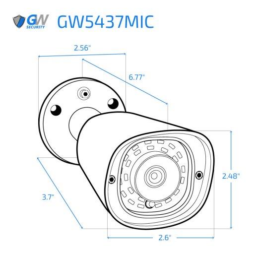 5437MIC dimensions