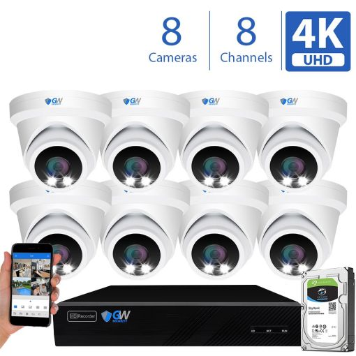 8093fmic 8 Channel 8 Camera 8MP IP PoE Security Camera System