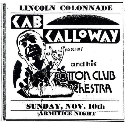 Cab Calloway at the Lincoln Colonnade