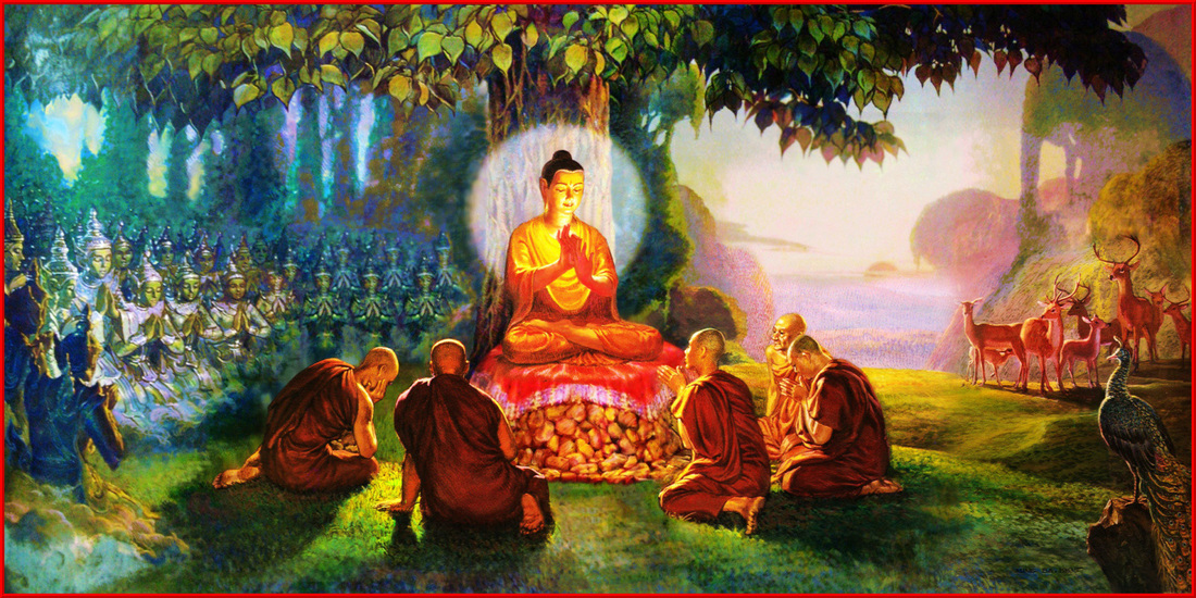 Image result for Buddha dinner painting