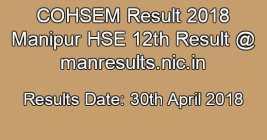 COHSEM Result 2018