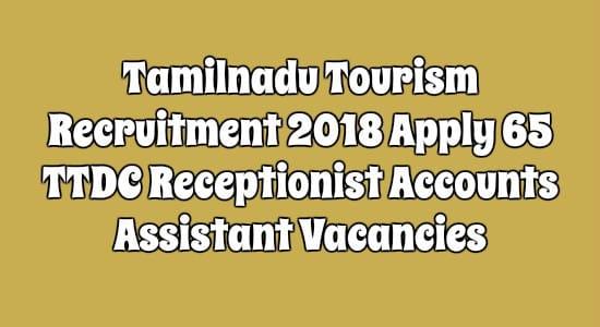Tamilnadu Tourism Recruitment