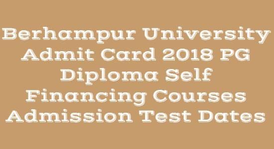 Berhampur University Admit Card