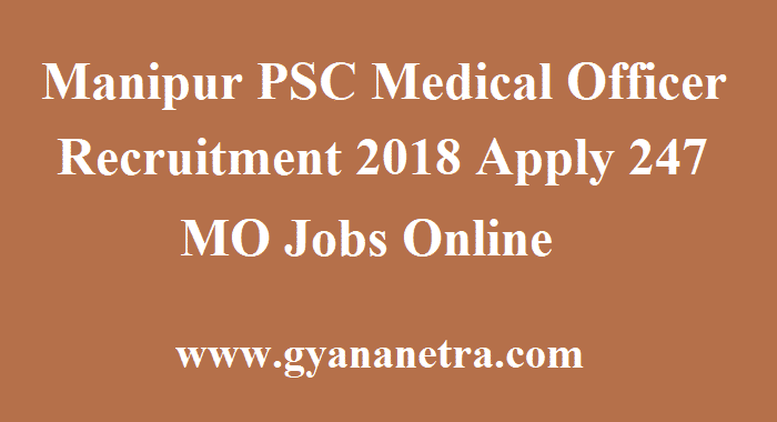 Manipur PSC Medical Officer Recruitment