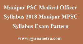 Manipur PSC Medical Officer Syllabus
