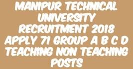 Manipur Technical University Recruitment