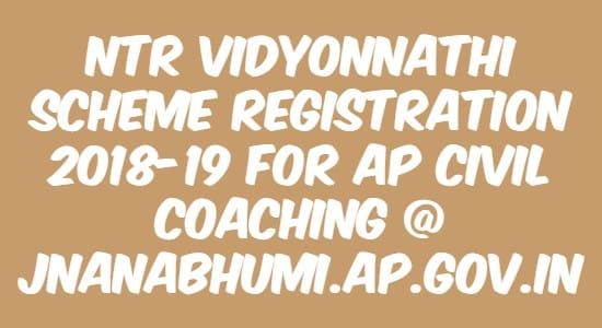 NTR Vidyonnathi Scheme Registration