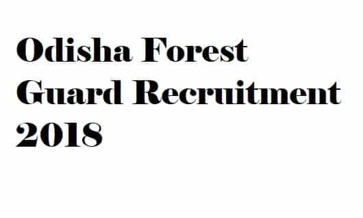 Odisha Forest Guard Recruitment