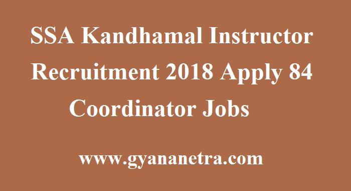 SSA Kandhamal Instructor Recruitment