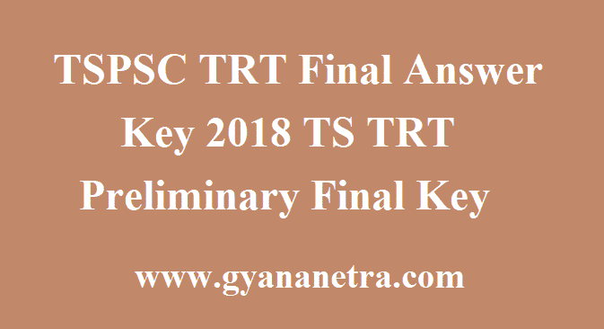 TSPSC TRT Final Answer Key