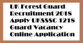 UK Forest Guard Recruitment