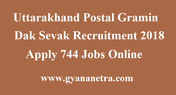 Uttarakhand Postal Gramin Dak Sevak Recruitment