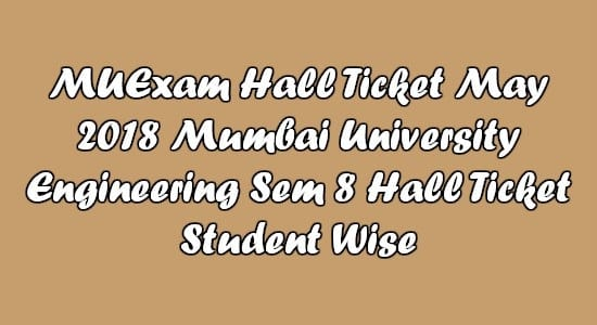 MuExam Hall Ticket