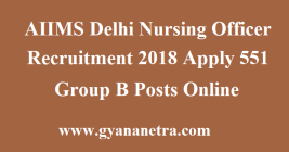 AIIMS Delhi Nursing Officer Recruitment
