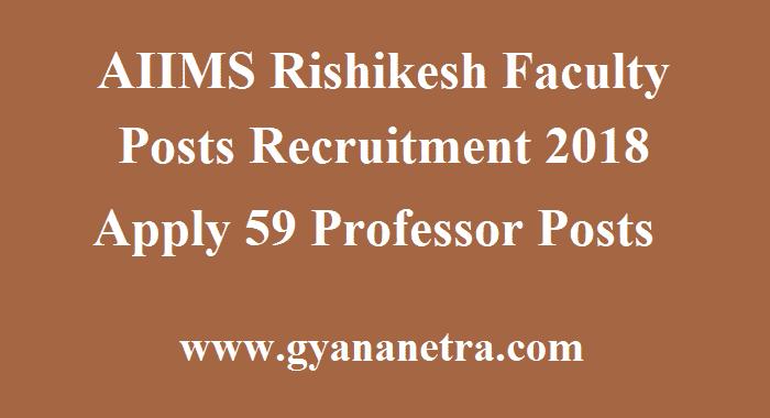 AIIMS Rishikesh Faculty Posts Recruitment
