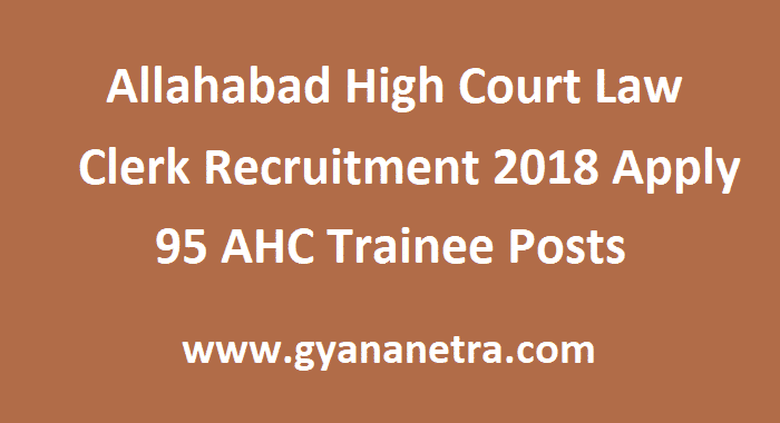 Allahabad High Court Law Clerk Recruitment
