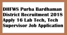 DHFWS Purba Bardhaman District Recruitment