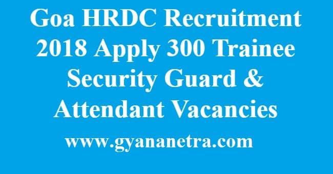 Goa HRDC Recruitment