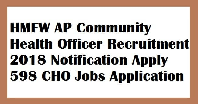 HMFW AP Community Health Officer Recruitment