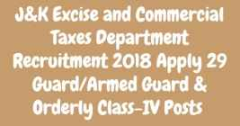JK Excise and Commercial Taxes Department Recruitment