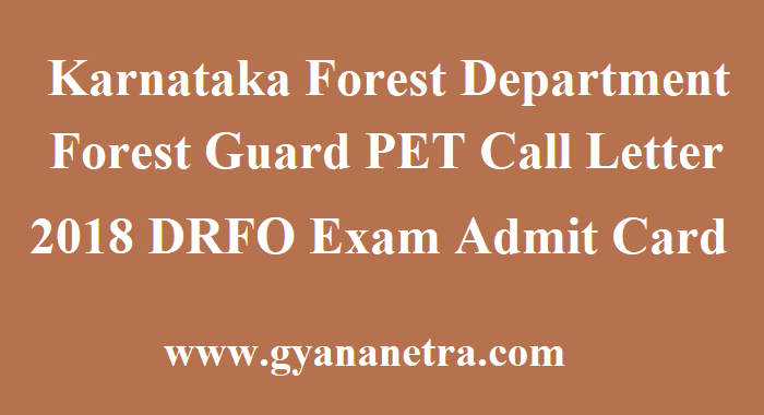 KFD Forest Guard PET Call Letter