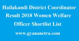 Hailakandi District Coordinator Result