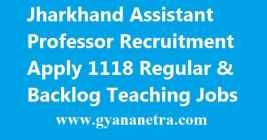 Jharkhand Assistant Professor Recruitment