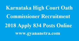 Karnataka High Court Oath Commissioner Recruitment